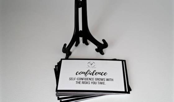 confidence - encouragement cards store